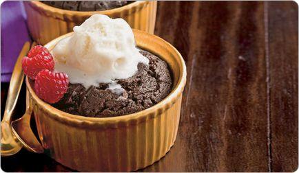 Mocha Pudding Cakes - A healthier chocolate dessert :-)