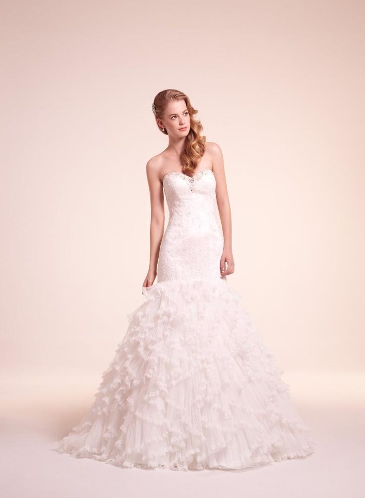 Trumpet Wedding Dresses Kleinfeld : Beading fit n flare floor kleinfeld collection lace mermaid trumpet