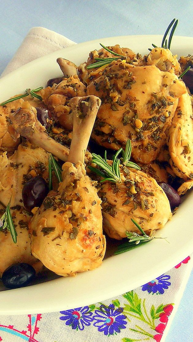 Braised Chicken With Potatoes, Olives, And Lemon Recipe — Dishmaps