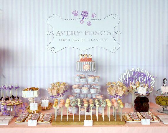 printable backdrop puppy baby shower party collection by envyanvi 12