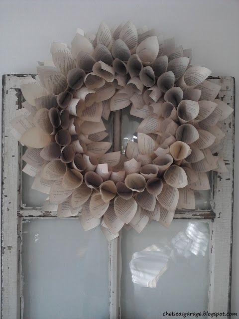 Chelsea's Garage: Paper wreath tutorial