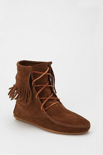 Cool picture of double fringe moccasin suede