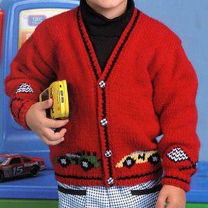 Race Car Sweater Knit Pattern ePattern Knitting Patterns ...