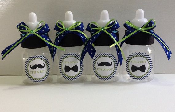 mustache and tie bow baby shower by marshmallowfavors on etsy