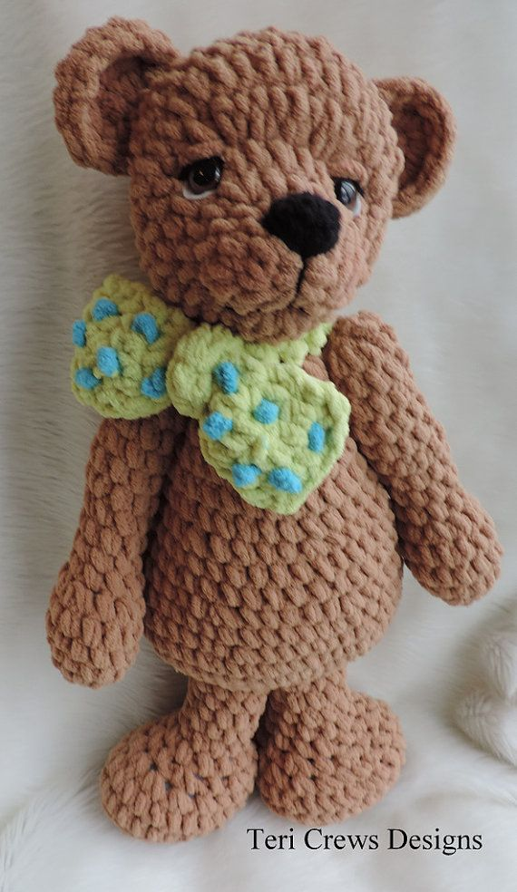 New Crochet : New+Crochet+Patterns Cute Old Bear New Crochet Pattern by Teri Crews ...