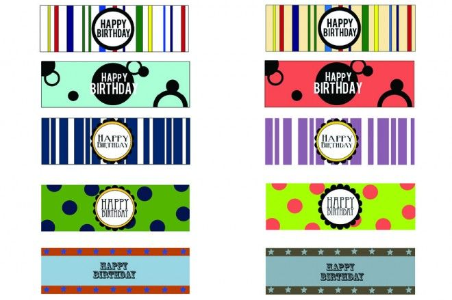 Party Water Bottle Labels - Free Printables