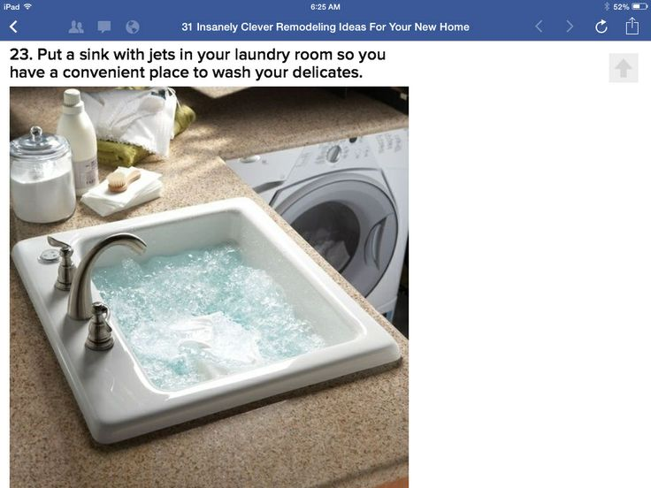 Jetted Laundry Sink : Jetted laundry sink Dream Home Pinterest