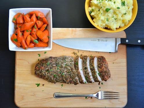 herb roasted pork dinner | Food | Pinterest
