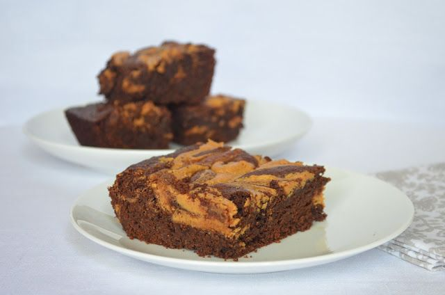... Bakes Simply From Scratch: Fudgy Brownies With Peanut Butter Swirl
