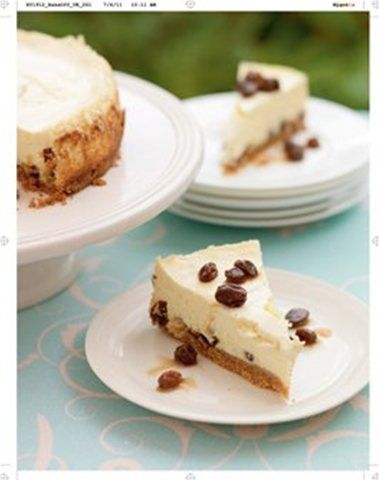 Rum and Raisin Cheesecake | For the Love of Cheesecakes | Pinterest