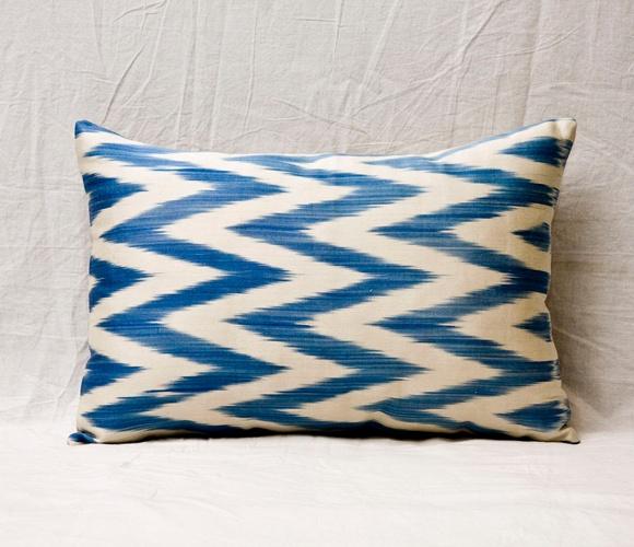 Navy Ikat Pillow