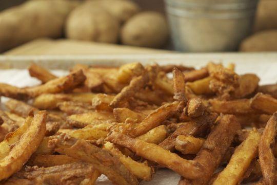 Beer-Battered Cajun Fries http://www.thekitchn.com/recipe-beer ...