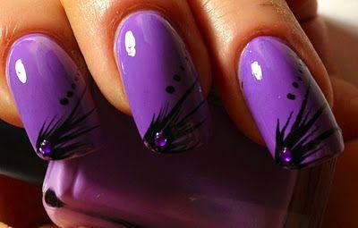 Fun purple nails! Pretty Nails. Nails.