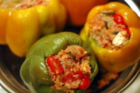 Couscous and feta stuffed peppers « Superspark