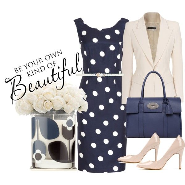 Polka Blue, created by fortzjane on Polyvore