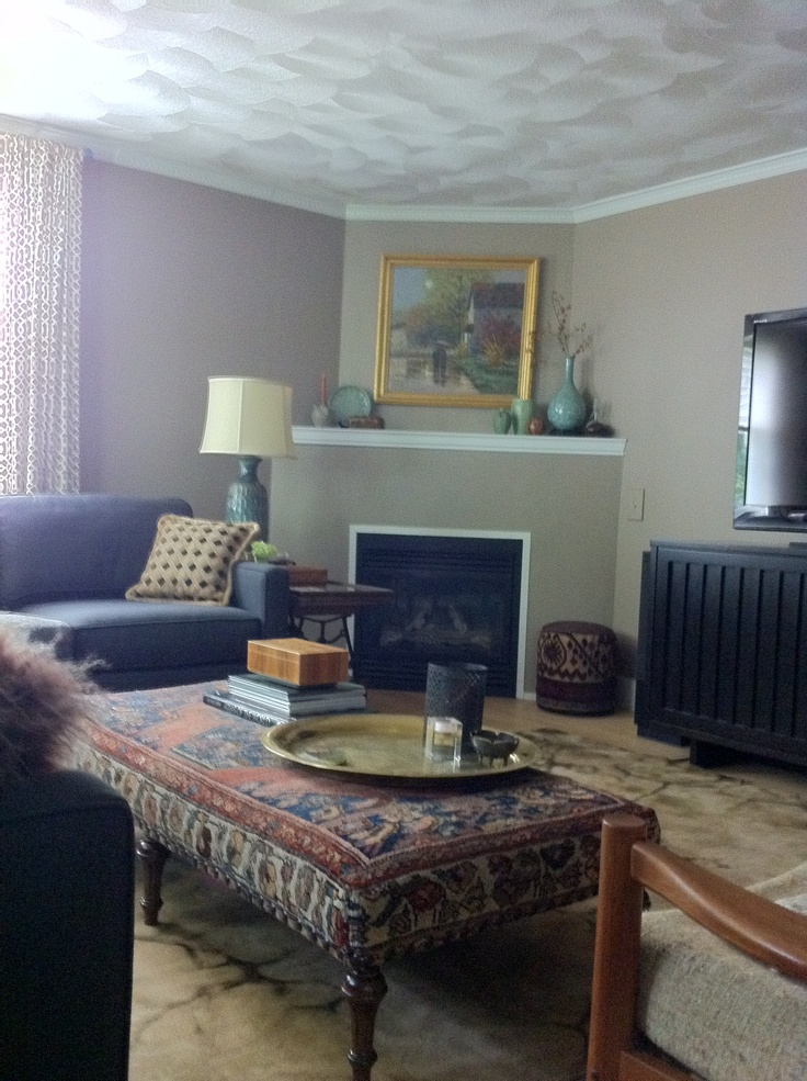 Pin by kerri preston on ideas for rental house pinterest for Modern living room persian rug