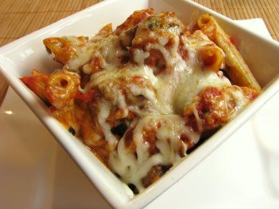 Baked Penne with Meatballs | Get Your Eat On | Pinterest