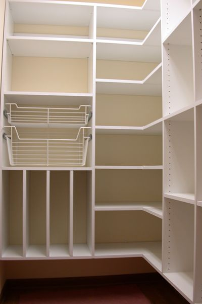 Ideas for storage shelves for pantry closet joy studio for Small pantry closet ideas