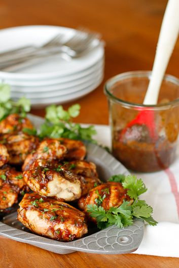 Cilantro Chipotle Barbecue Chicken Thighs -- smoky and sweet with a ...