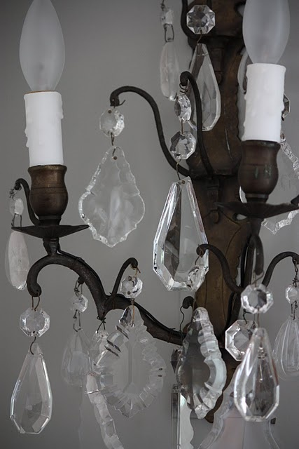 wax candle sleeves antique chandelier