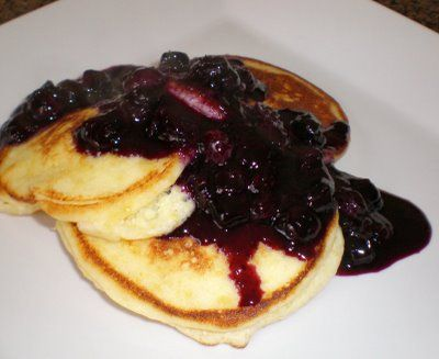 blueberry pancakes meyer lemon ricotta pancakes with blueberry compote ...
