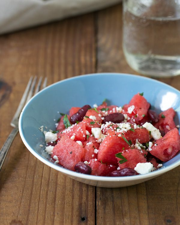 Watermelon, Kidney Bean, and Feta Salad | All Things Cooking | Pinter ...
