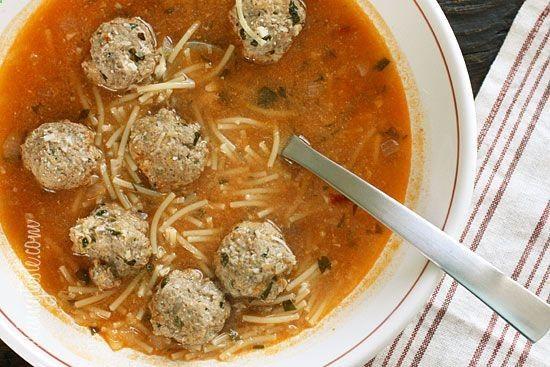 Meatball and Spaghetti Soup - This is a one pot meal my whole family ...