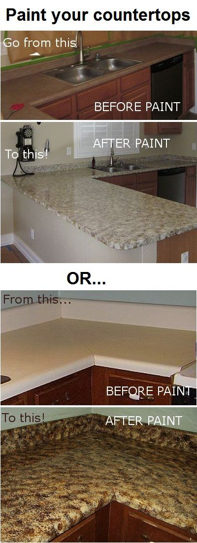 Paint Your Countertop : Awesome DIY project: Paint your own counter-tops! Click here to read ...