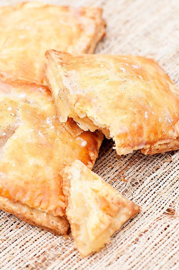 Homemade Apple Pie Tarts with vanilla ice cream. Sigh.