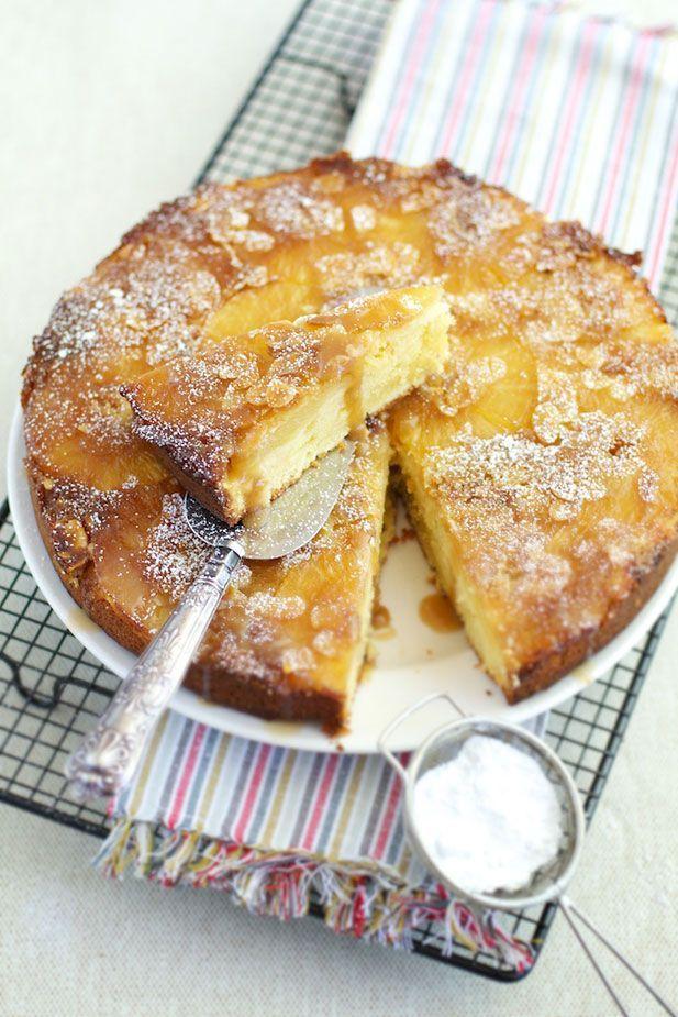 Upside-Down Pineapple & Almond Cake | CAKES | Pinterest