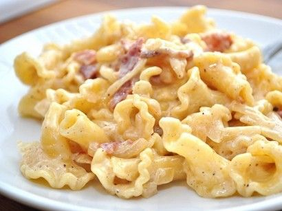 Mac and Cheese 1 pound Campanelle Pasta 5 slices Bacon 1 whole Sweet ...