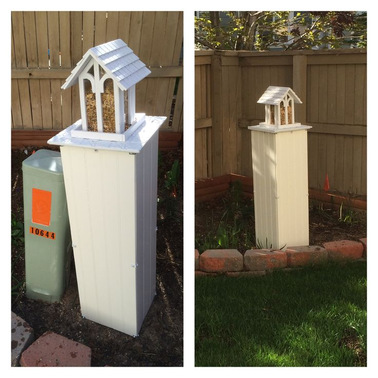 Utility Box Cover Landscape Ideas Pinterest