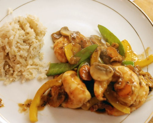 Shrimp with black bean sauce. Don't use black bean sauce from the ...