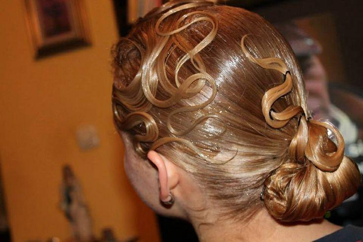 banana peel hairstyle : Ballroom dance hairstyle Ballroom Hairstyles & Makeup Pinterest