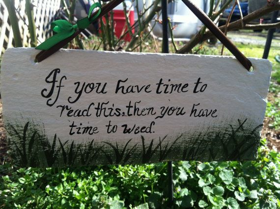 Funny Backyard Signs : Funny Garden Signs, Yard Sign, Garden Decor, Garden Sign, Time to Weed