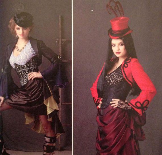 steampunk saloon dress costume pattern simplicity 0873 plus size 14. Black Bedroom Furniture Sets. Home Design Ideas