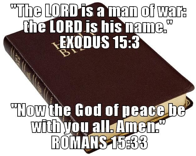 Are there any quotes in the Holy Bible that contradict another quote in the Holy Bible?