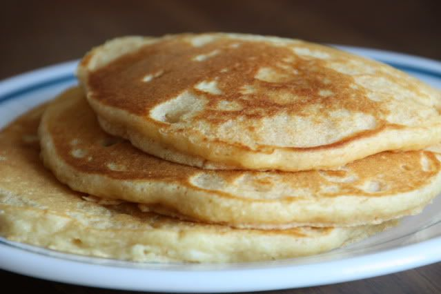 Whole wheat pancakes - add cinnamon and vanilla for different flavor