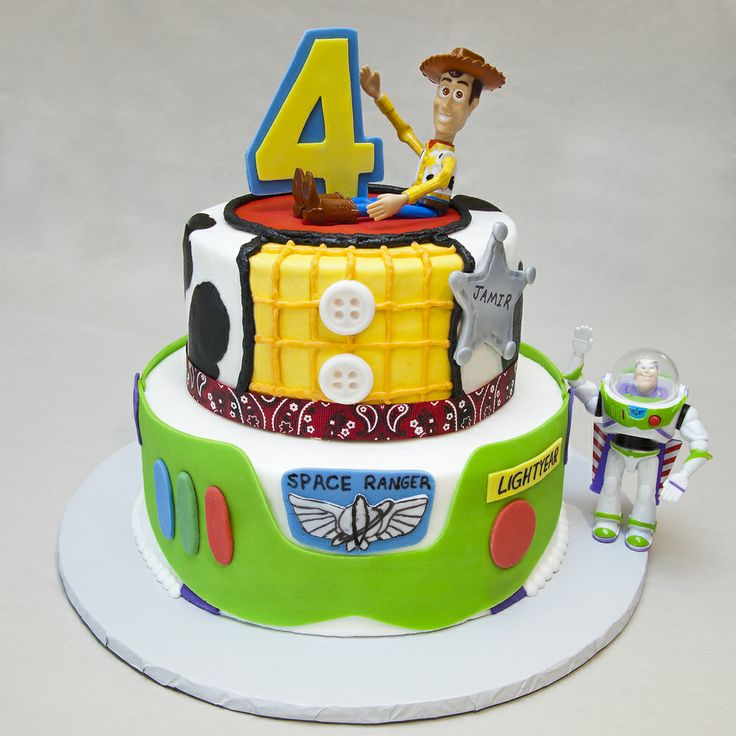 Birthday 072 Toy Story Cake For Four Year