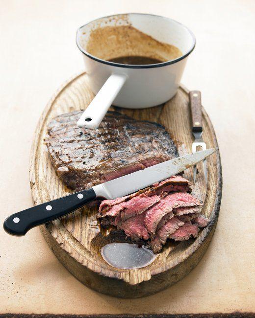 Marinated Flank Steak - Apple juice, whiskey, garlic, and mustard ...