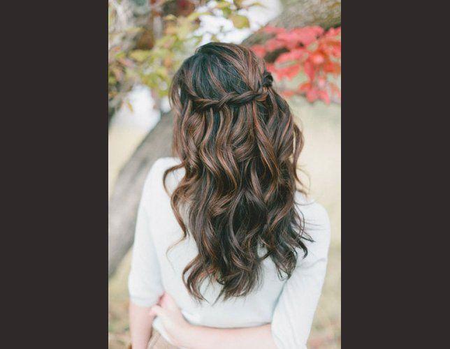 Idée coiffure cheveux longs et détachés coiffure mariage