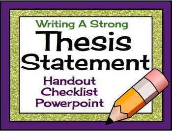Thesis handout