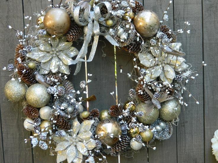 Christmas wreath holiday wreath front door wreath for Front door xmas wreaths