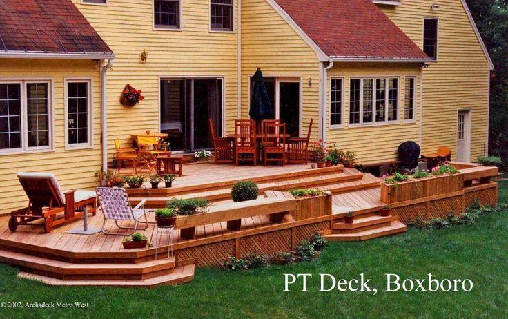 Multi Level Patio Ideas : Multilevel deck in Boxboro, MA  Deck Designs  Pinterest