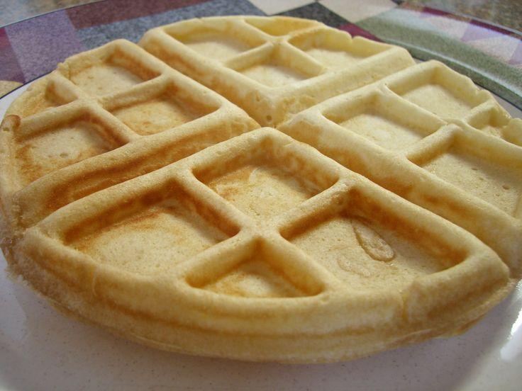 light and crisp waffles | Breakfast | Pinterest