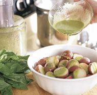 Warm Potatoes with Basil Vinaigrette | Side Dishes | Pinterest