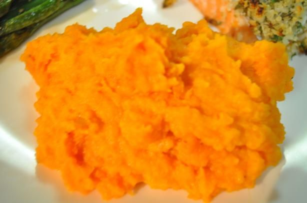 Sweet Potato Puree With Maple. Great for the Holidays.