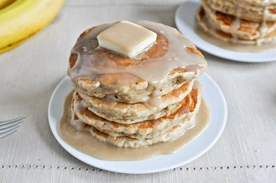 Whole wheat brown sugar banana pancakes. | Esther | Pinterest