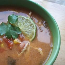 Slow-Cooker Chicken Tortilla Soup recipe featured on Food2Fork! #warm ...