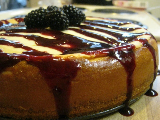 Lime Cheesecake with Blackberry Sauce | Great Recipes | Pinterest